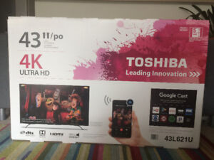 "BRAND NEW Toshiba 43"" 4k Ultra HD LED TV"
