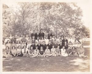 Ancienne photo de classe étudiants de Cowansville Quebec 1937