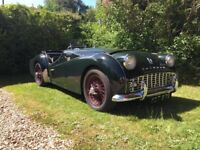 1960 Triumph TR3A Coupe in British Racing Green with Original Accessories - Full working condition