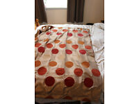 Curtains - brown/orange/terracotta spotty pattern - 116cm x 137cm