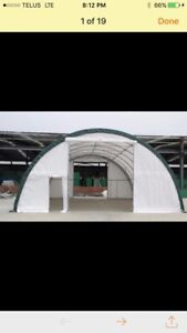 New 30x40x15 tent storage building