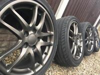 "Honda integra type r dc5 civic alloy wheels 5x114.3 17"""