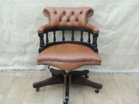 Chesterfield Unique brown stylish captains chair (Delivery possible)