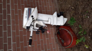 80,s Johnson 9.9hp 2 stroke short shaft outboard with elec start