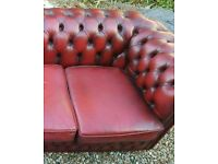 Chesterfeild sofa and 1 chair