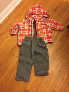 Fall/ sprint three piece jacket, fleece and  splash pants -2/3