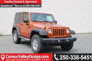 2010 Jeep Wrangler Sport ONE OWNER, LOW KM, MANUAL, CRUISE CO...