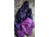 Girls' snowboarding/skiing Jacket, Trousers and Gloves