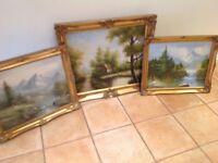 Three Oil Paintings