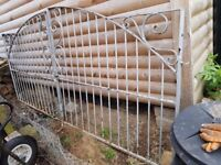 1 Pair of Iron Gates 1.5m width x 1.2m height rising to 1.5m height each