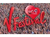 V Festival Weston Park Full Weekend Camping Ticket