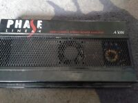 Phase linear 4kw car amp built in fan.. very powerful and clear
