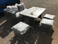 Grey Rattan Furniture Set