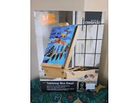 PINE CARRY CASE TABLE TOP EASEL ART KIT