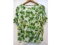 New fun Zara cucumber print top - size 14