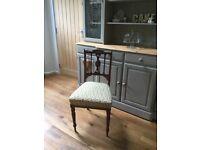 Edwardian mahogany inlaid side chair
