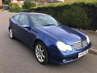 2002 MERCEDES C180 COUPE AUTOMATIC