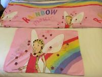 Rainbow Magic Fairy Single Duvet Cover and Pillowcase - VGC