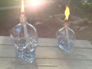 Crystal Head Tiki Torches