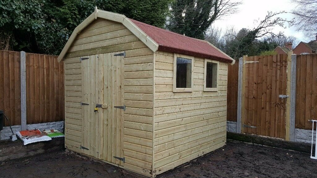 size 7ft x 5ft image 1 of 9 - Garden Sheds 7ft X 5ft