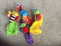 Lamaze bug wrist rattle and foot finders