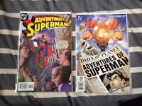 2 'Adventures of Superman' comics, never used