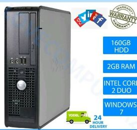 Dell Optiplex Pc Intel core 2 duo 4GB + 160GB HDD+ Windows desktop computer