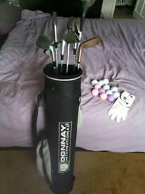 Ladies starter golf clubs bag glove & balls