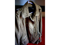 CALVIN KLEIN WOMANS JACKET size Small fantastic condition stunning kahki