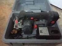 Cordless circular saw 18v 1 battery 1 charger and 1 box