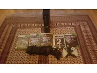 Xbox 360 Slim + 5 Games