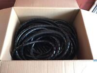 Black spiral cable