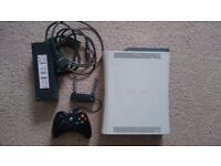 Xbox 360 with controller, power supply, HDMI cable and Wi-Fi adapter in good condition