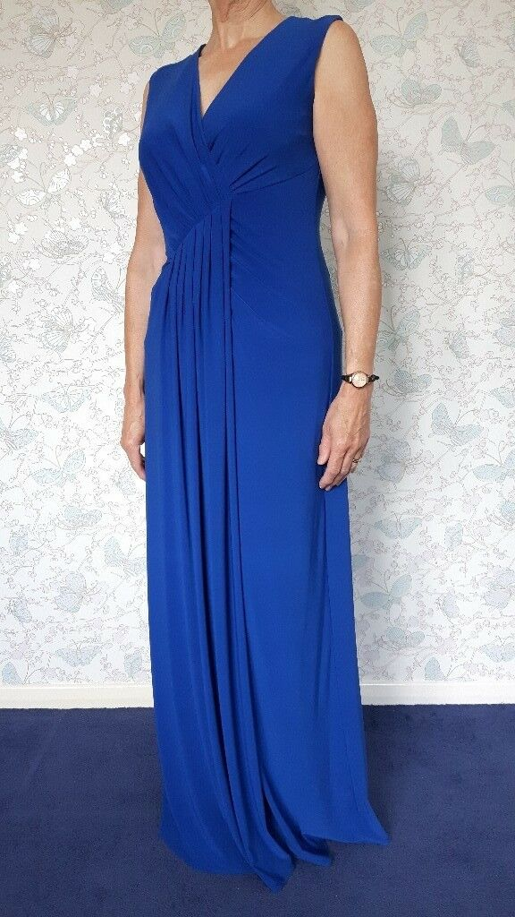 Evening dress by Ossie Clark size 12in Chelmsford, EssexGumtree - Flattering front pleating makes this electric blue evening dress look so elegant. Size 12. Worn once only. By Ossie Clark Can be washed by machine on a delicate 30° wash. £25 o.n.o