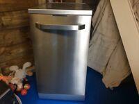Kenwood slimline dishwasher in silver