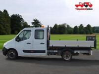 15 VAUXHALL MOVANO 2.3 CDTI 125ps L3 H1 Double Cab Crew Tipper DIESEL MANUAL