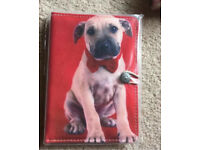 "7 inch Case Cover Book For 'Tablet - 7"" Red dog design"
