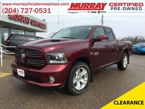 2016 Ram 1500 Quad Cab Sport 4WD *Backup Camera* *Heat/Vent Leat