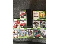 Xbox 360, 3 controllers, 12 games