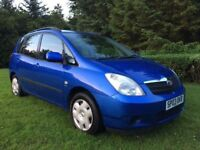 STUNNING CONDITION COROLLA VERSO MPV LOW MILE LONG MOT PX WELCOME