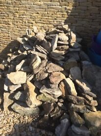 Cotswold walling stone about one and half tons