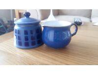 Denby milk jug and sugar bowl