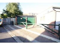 Garage for Renting - Secured entrance with barrier double width garage with lighting inside