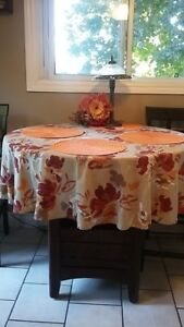 Kitchen table...solid wood with leaf to seat 6