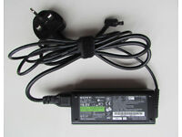 Genuine Sony Vaio 19.5V laptop power supply charger