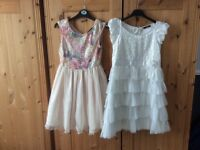 2 special occasion dresses age 10-11 years