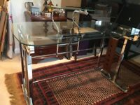 Modern Desk in Glass and Stainless Steel. Very good condition. Ideal for home study area.