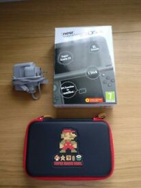 Nintendo New 3DS XL Metallic Black With Official Case and Charger!