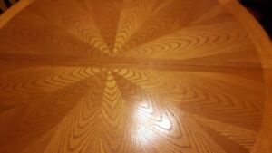 """""""Sunburst"""" pattern table and chairs"""