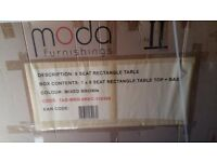 Brand new in box rattan style patio table